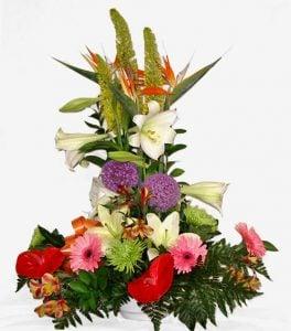 Centros de Flores de papel
