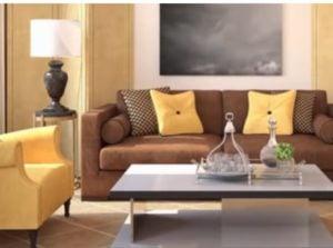 Muebles de una sala de estar