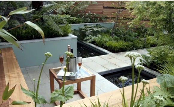 Elementos de jardines modernos