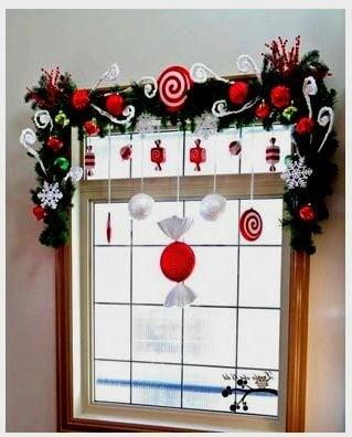 decorar ventanas para navidad