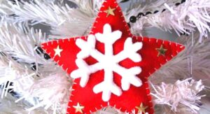 Decorar Estrella Navidad en foami