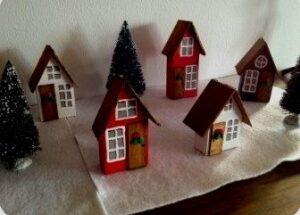 Casitas de Navidad de carton