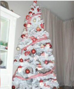 Árbol de Navidad Blanco con luces